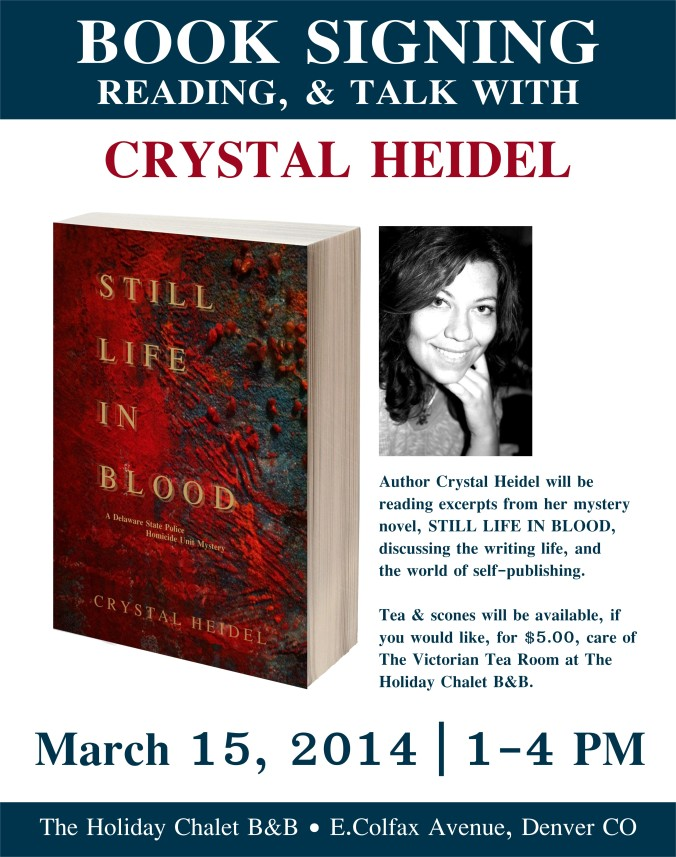 STILL LIFE IN BLOOD book signing poster